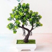 Simulação bonsai ornamentos falso árvore potted acolhedor pinho plástico falso vaso planta artificial pinheiro decoração interior