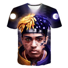 2020 nova xxxtentacion t camisa masculina/feminina moda streetwear estilo hip hop raper xxxtentacion 3d impressão camiseta masculina legal topos t