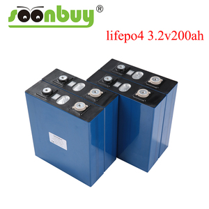 New Lifepo4 3.2v 200ah rechargeable battery 3.2v 12V 200ah battery Suitable for Solar Energy long life 3500 Cycles EUUS TAX FREE