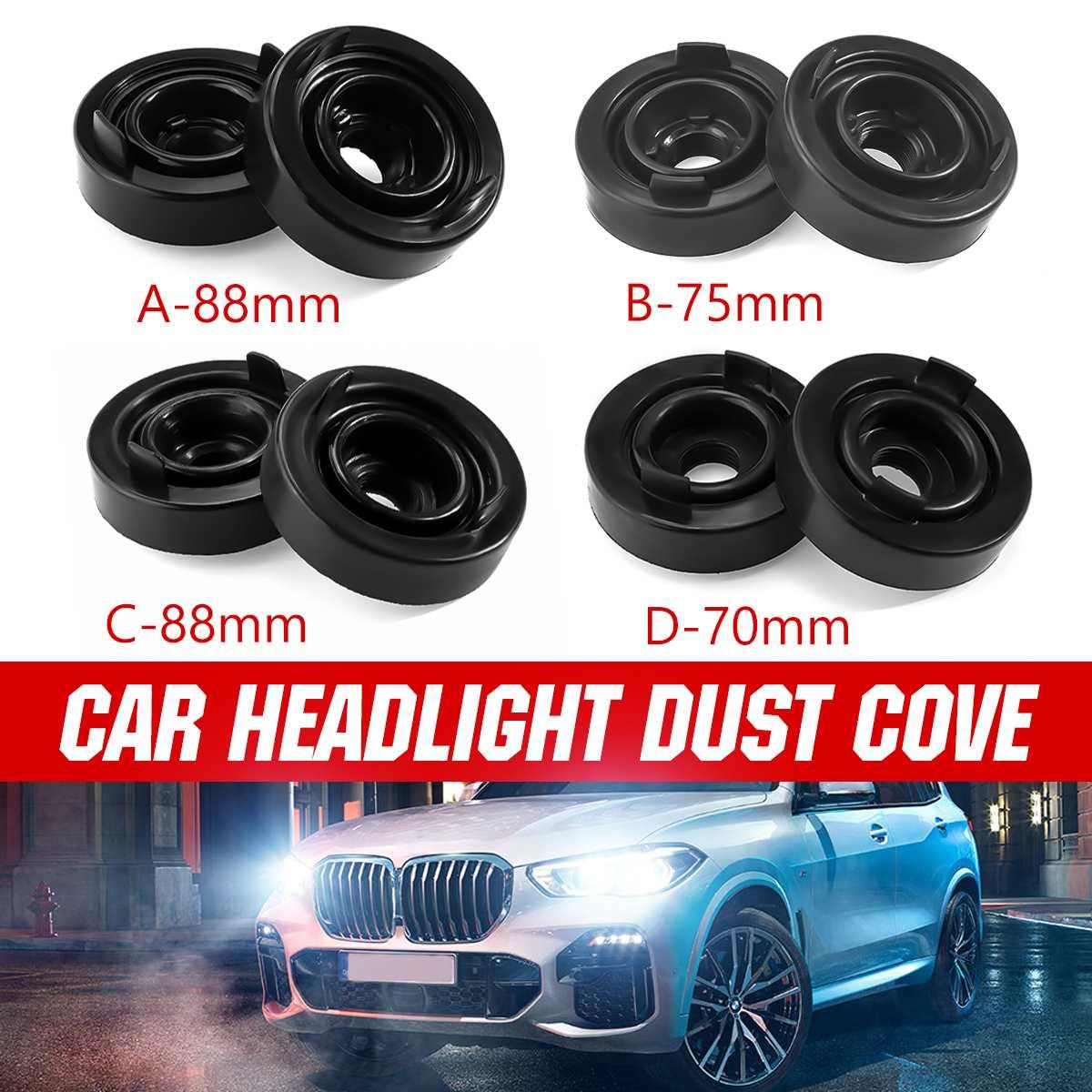 2X Car Headlight Rubber Dust Cover Cap HID LED Headlight Light Lamp Bulb Waterproof Dustproof Sealing Headlamp 70mm 75mm 80mm