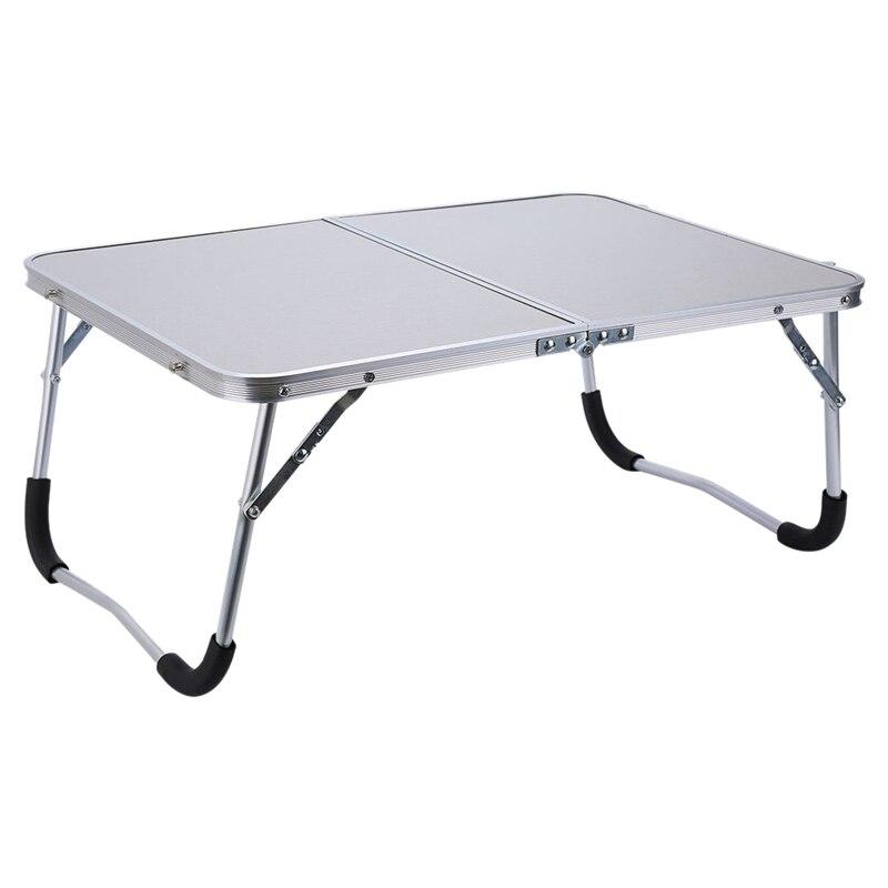 Mobilya'ten Dizüstü Bilg. Masaları'de Ayarlanabilir taşınabilir dizüstü masa standı katlama bilgisayar okuma masası yatak tepsi  beyaz title=