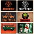 Jagermeifter Ретро металлический знак жестяная вывеска виски пиво Бельгии доска металлический декор для стен в винтажном стиле декор плакат плас...