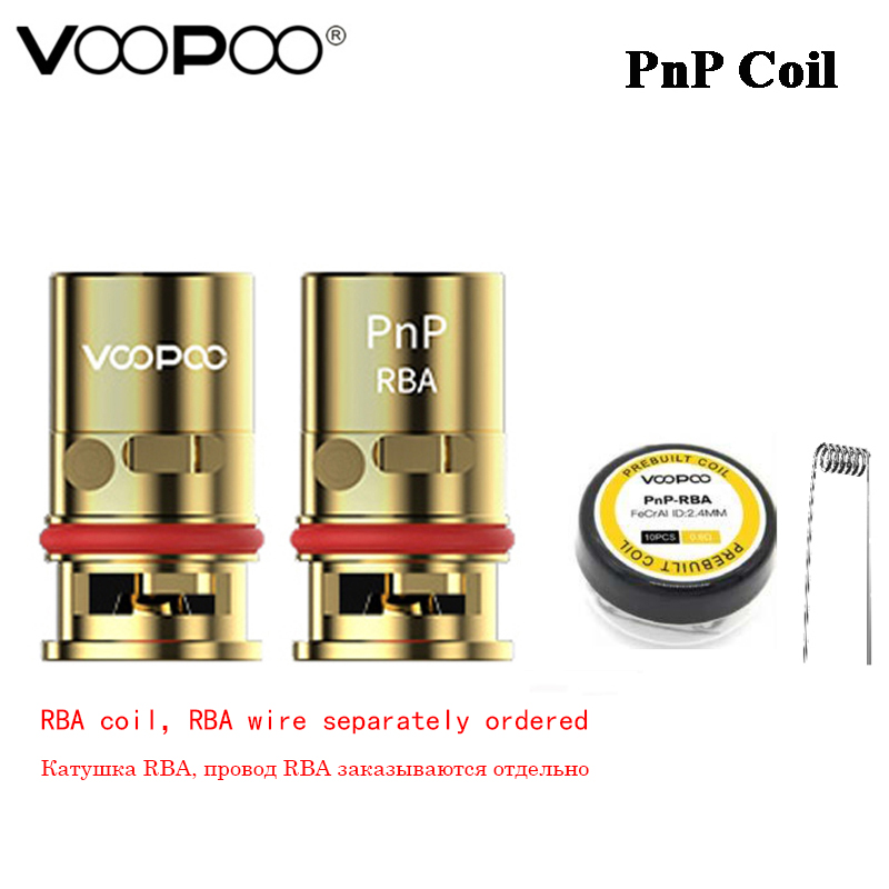 VOOPOO-bobina RBA PnP original para vapeo, bobina de 0,6 ohm para MTL de media resistencia DL y cable preconstruido pn-rba para/VINCI Air/Drag X/Drag S/Argus Pro