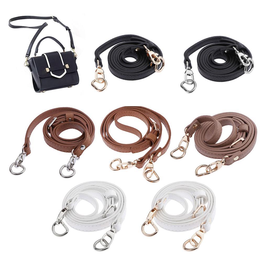120 Cm Leather Shoulder Bag Strap Quality Fashion Accessories DIY Cross Body Adjustable Belt Bag New Solid Bag Strap Replacement