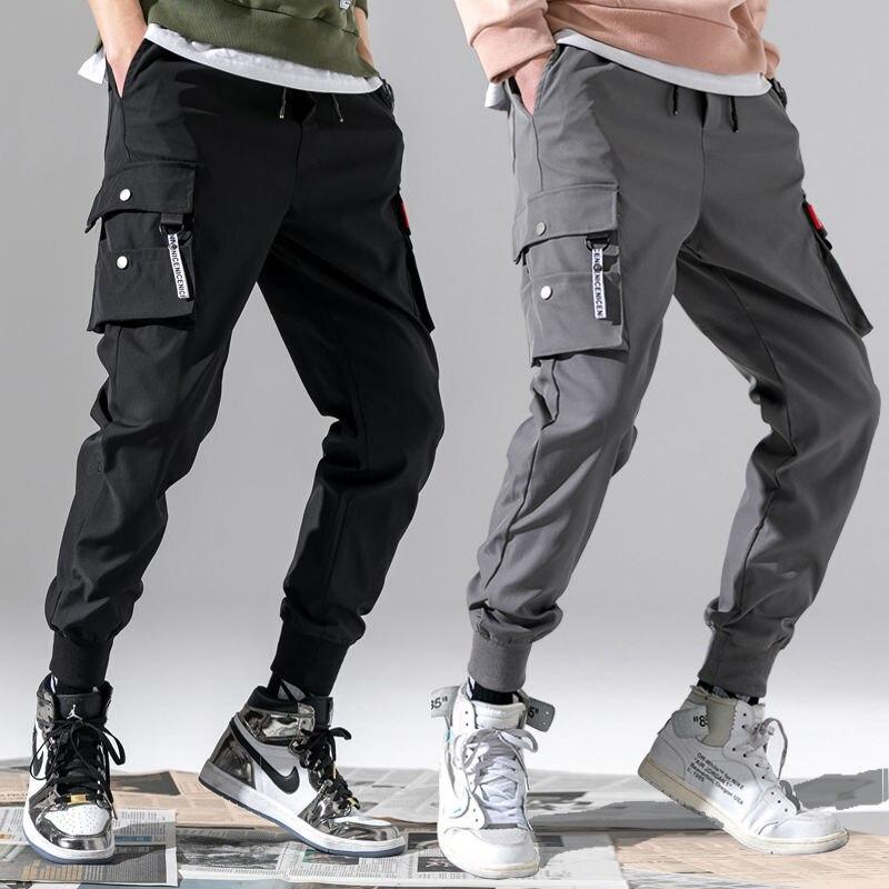 Hong Kong Style INS Bib Overall Men Popular Brand Loose-Fit Beam Leg Casual Pants Male STUDENT'S Korean-style Harem Pants Athlet