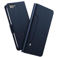 Para blackberry key2 le caso de couro do plutônio flip suporte carteira caso com espelho & kickstand & cartão de bolso para blackberry key2 le telefone