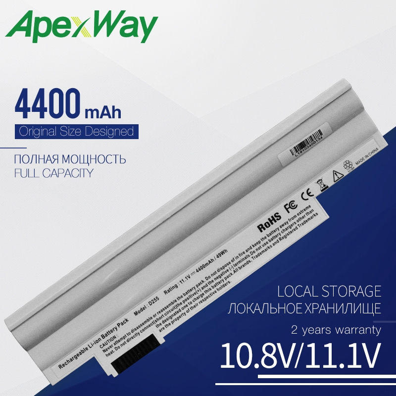 Apexway White11.1V Laptop <font><b>Battery</b></font> for <font><b>Acer</b></font> <font><b>Aspire</b></font> AL10A31 AL10B31 AL10G31 <font><b>One</b></font> 522 D255 <font><b>722</b></font> D257 D255E D260 D270 AOD255 AOD260 image