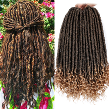 Modern Queen Ombre Braids Hair 20 Inch Goddess Faux Locs Cro