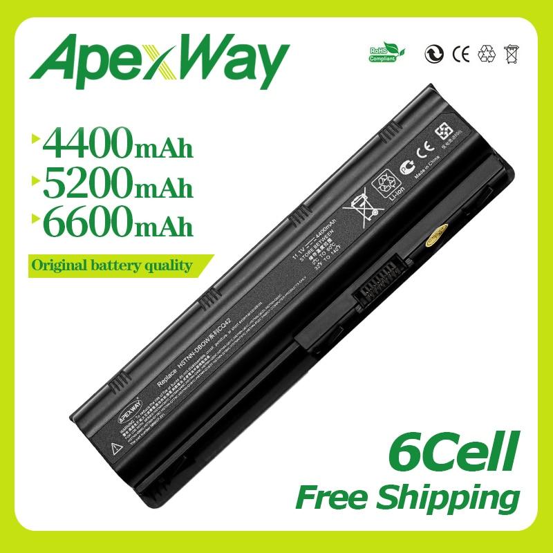 Apexway 11.1V Battery For HP Compaq Pavilion G6 G4 G61 G7 DM4 DV3 DV5 DV6 DV7 CQ42 CQ43 CQ62 CQ72 MU06 593553-001 Hstnn-lb0w