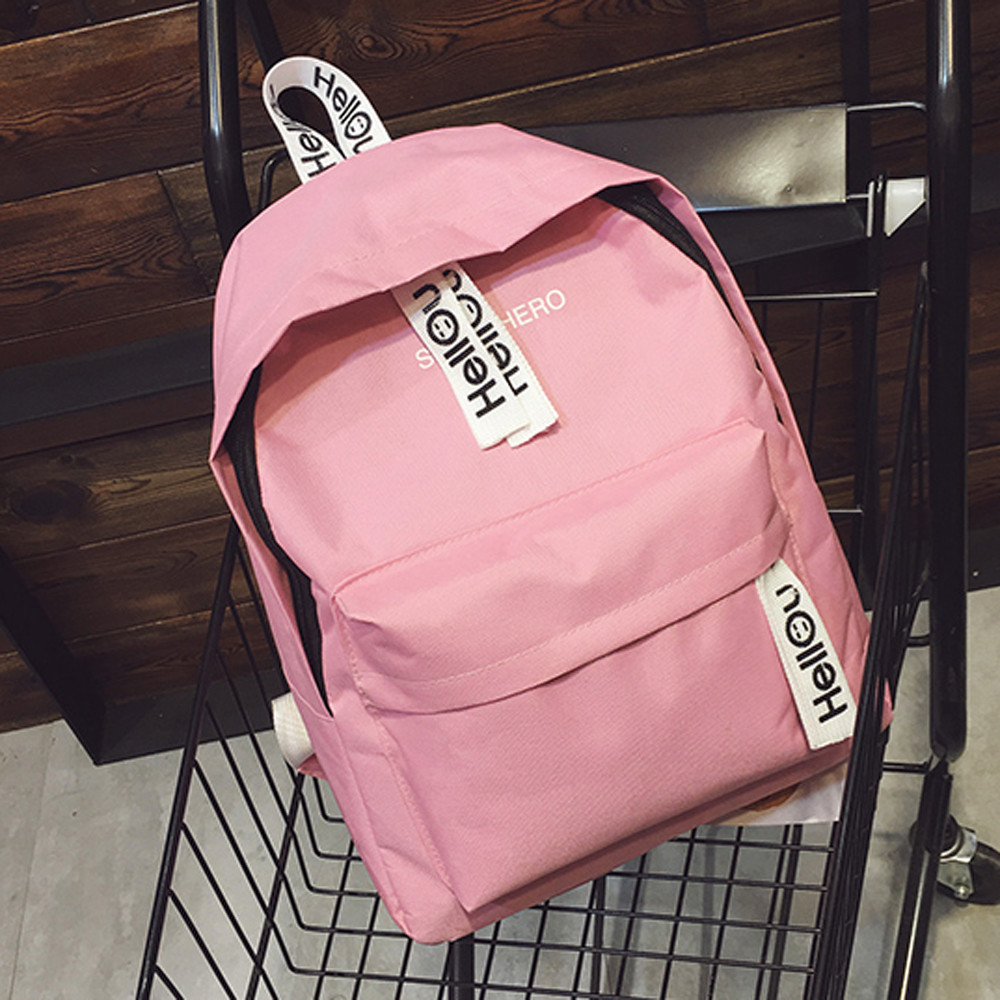 Unisex Backpack Schoolbags Rucksack Laptop Leisure-Bag Letter Shoulder Travel Female title=