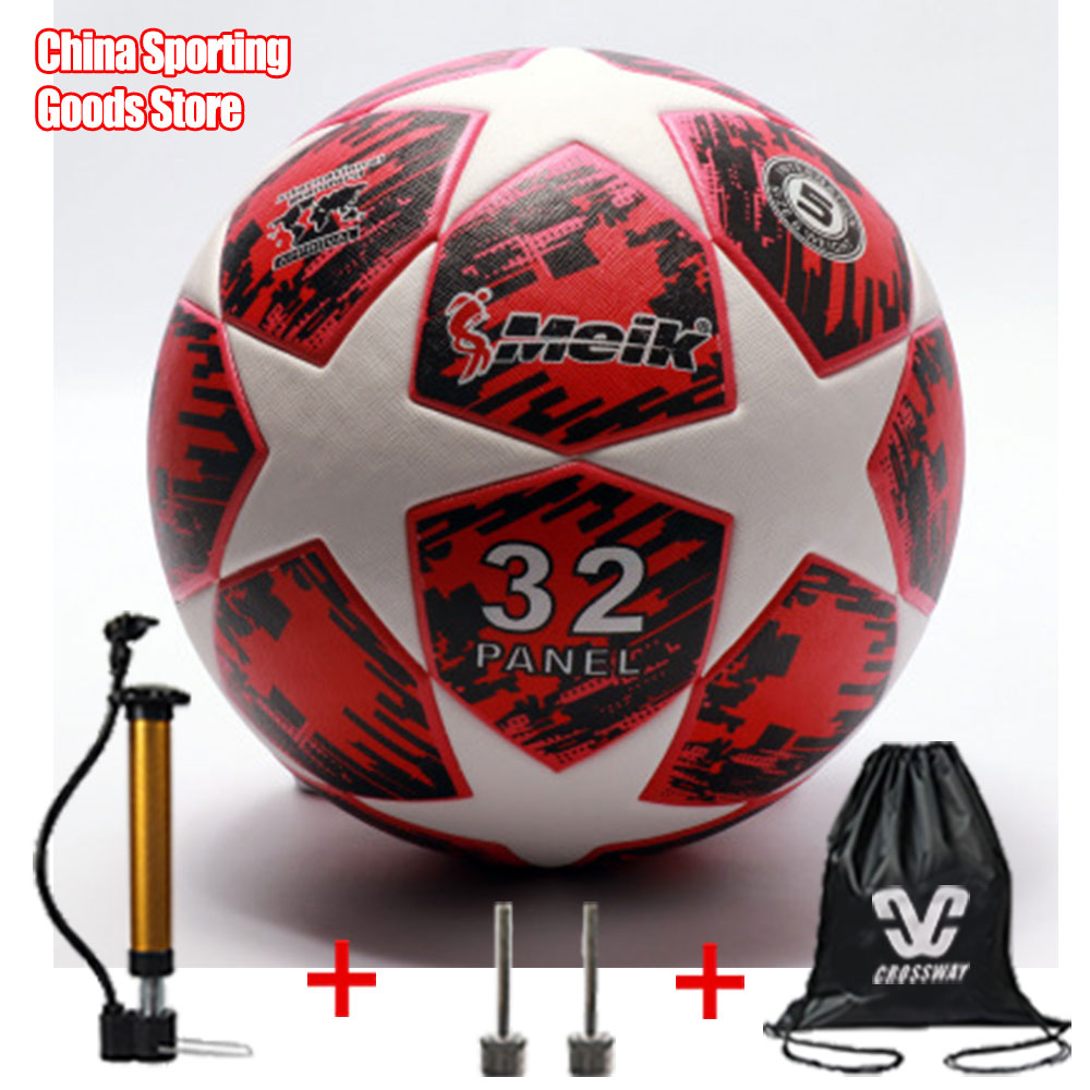 Training Football, No.5 Football, Adhesive TPU Seamless Leather Football Student Training Ball, Free Air Pump + Air Needle + Bag