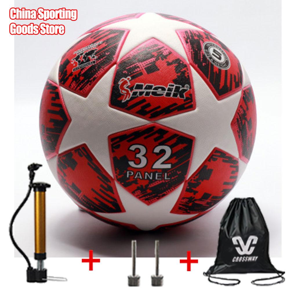 Training Football, No.5 Football, Adhesive TPU Seamless Leather Football Student Training Ball, Free Air Pump + Air Needle + Bag