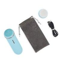 Escova de limpeza facial sônica 3d impermeável  carregamento usb da escova da cara do silicone com 2 cabeças da escova para a limpeza profunda  exfoliating  ma