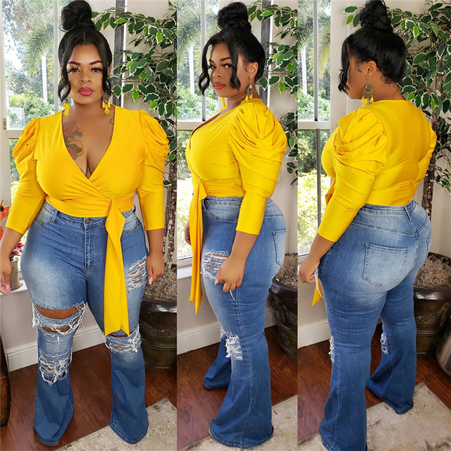 Autumn Women Tops and Blouses Solid Color V Neck Long Sleeve Tops Plus Size Women Blouse Office Shirt Wholesale Dropshipping 2