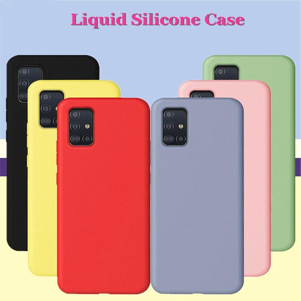 Para Samsung Galaxy A71 A51 A41 A31 Coque A prueba de golpes A prueba de líquido de silicona de Color Simple caso para cubrir Samsung 31 41 A71 A51 Funda