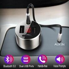 Автомобильный FM-трансмиттер JINSERTA с Bluetooth 5,0 и двумя USB-портами