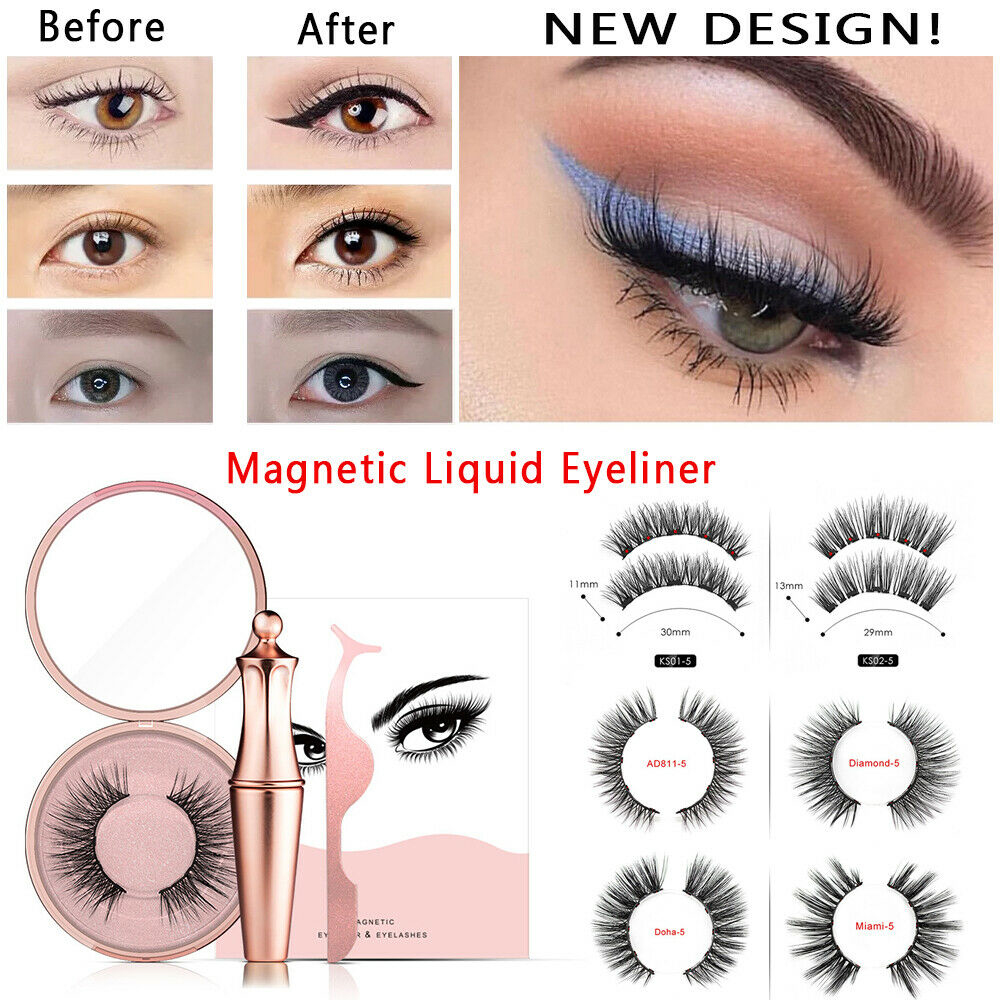 Magnetic Liquid Eyeliner With Magnetic False Eyelashes Easy To Wearing Lashes Clip Eye Extension False Eyelashes Set For Women