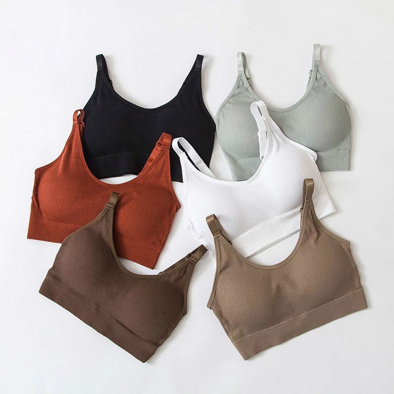 Seamless Vest Bra Tops Slim New Crop Top Without Steel Ring Ladies Slim Vest Top