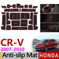 Anti-Slip Rubber Gate Slot Cup Mat for Honda CR-V 2007-2011 2012 2013 2014 2015 2016 2017 2018 2019 CRV CR V Accessories Sticker