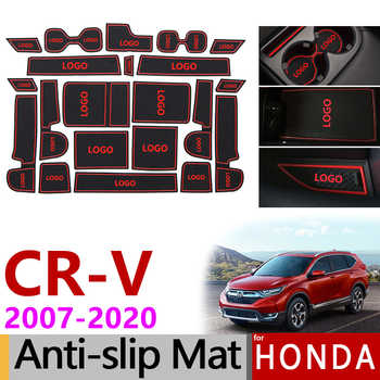 Anti-Slip Rubber Gate Slot Cup Mat for Honda CR-V 2007-2011 2012 2013 2014 2015 2016 2017 2018 2019 CRV CR V Accessories Sticker - DISCOUNT ITEM  50 OFF Automobiles & Motorcycles