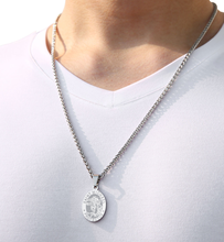 Ascona 316L Stainless Steel Men's Necklace Pendant Catholic ST Saint Michael Necklace Amulet Is Not Easy To Fade