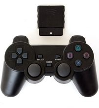 Para sony ps2 controlador sem fio bluetooth gamepad para play station 2 joystick console para dualshock 2 cor transparente gamepad