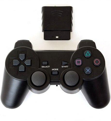 Para sony ps2 controlador sem fio bluetooth gamepad para play station 2 joystick console para dualshock 2 cor transparente gamepad|Gamepads|   -