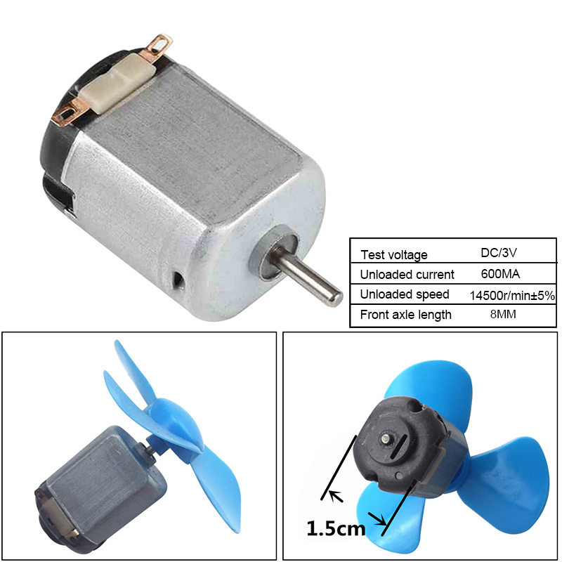 1PC DC Motor 3V 14500r/min Mini Electric Motor Carbon Mini Electric Motor For Remote Control Toy Car Robot Student Class Lab