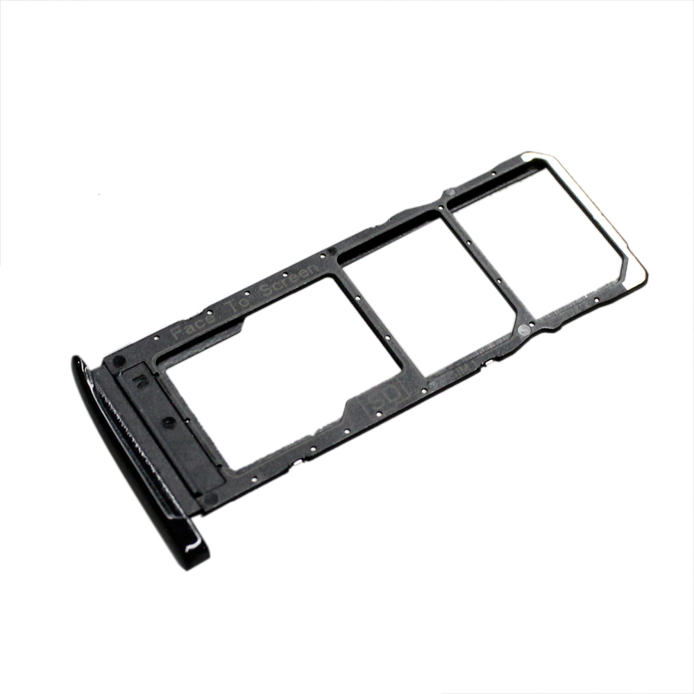 NEW Dual SIM Card Tray Slot Holder Replace <font><b>Parts</b></font> For Motorola Moto G7 <font><b>XT1962</b></font> Black image
