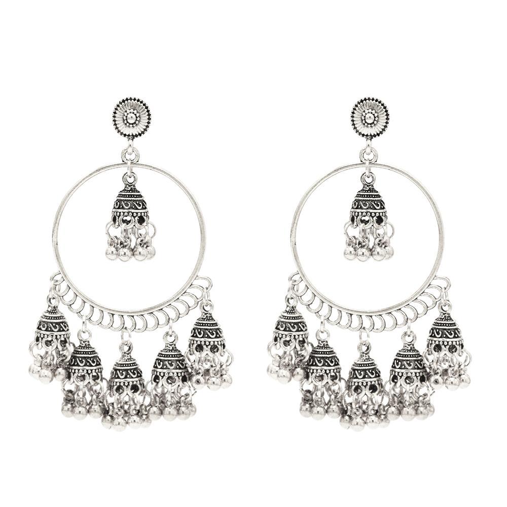 Bollywood Jewelry Indian Jewellery,Dangle /& Drop Earrings Oxidized Jewellery Handmade Earrings Handmade Jewelry Oxidized Earrings