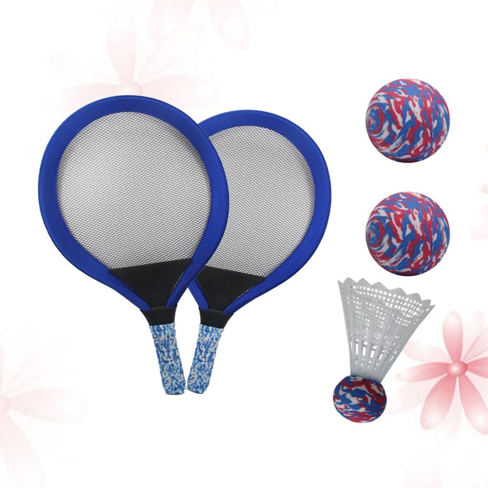 1 ensemble de raquette de Tennis pour enfants forme ovale accessoires de jeu outils de Tennis raquettes de Badminton pour Sports plage école primaire en plein air