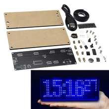 Smd led dot kit de produção relógio digital eletrônico diy kit de peças de produção eletrônica