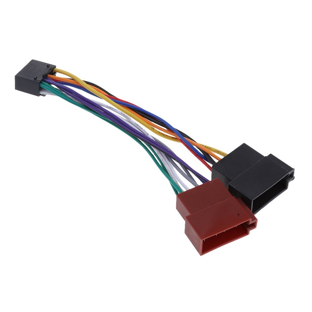 Wire Harness Adaptor For Kenwood / JVC Car Stereo Radio ISO Standard Connector Adapter 16 Pin Plug Cable Car Wire Cable Adapter