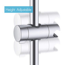 Universal 25mm ajustável chuveiro de mão trilho cabeça suporte para barra deslizante braçadeira do banheiro abs cromado