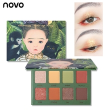NOVO Eyeshadow Pallete 8 Color Matte Shimmer Eye Shadow Glitter Waterproof / Wat