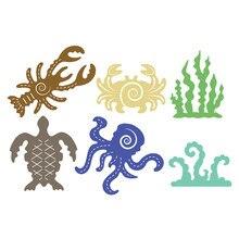 YaMinSanNiO Lobster Crab Water Grass Metal Cutting Dies New 2019 Craft Scrapbooking Album Embossing Stencil Die Cut Decor