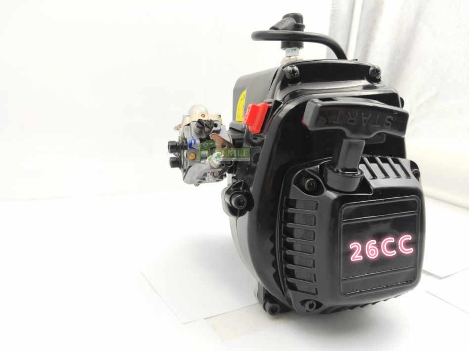 26cc 4 Bolt เครื่องยนต์ (คาร์บูเรเตอร์ Walbro และ NGK Spark Plug) fit สำหรับ 1/5 HPI Rovan KM BAJA Losi 5ive T FG GoPed RedCat