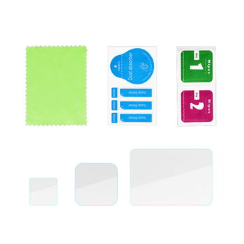 3 sztuk w 1 hartowany film dla GoPro Hero 8 szklany ochraniacz ekranu Anti-Scratch obiektyw pokrywa akcesoria do kamer sportowych tanie i dobre opinie Vwinget for GoPro Hero 8 Akcesoria Zestaw Zestaw Support
