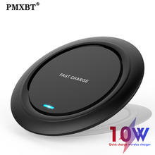 Fast Qi Wireless Charger For iPhone 11 Pro X XR XS Max Induction 10W Quick Wireless Charging Adapter Pad For Samsung S10 Note 9