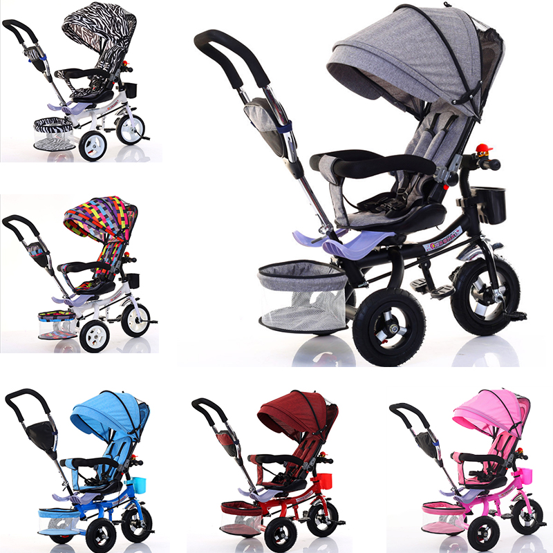 High Landscape Baby Carrier Mummy Bag 3 Wheels Shockproof Tires Bicycle Folding Swivel Stroller Baby Cart For Newborns Baby