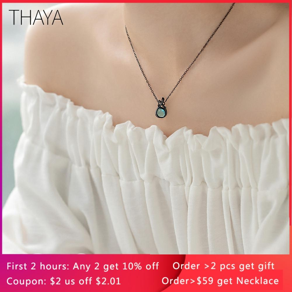 Thaya Original Design Sleeping Beauty Necklace S925 Silver Handmade Crystal Short Collarbone Chain Jewelry Gift