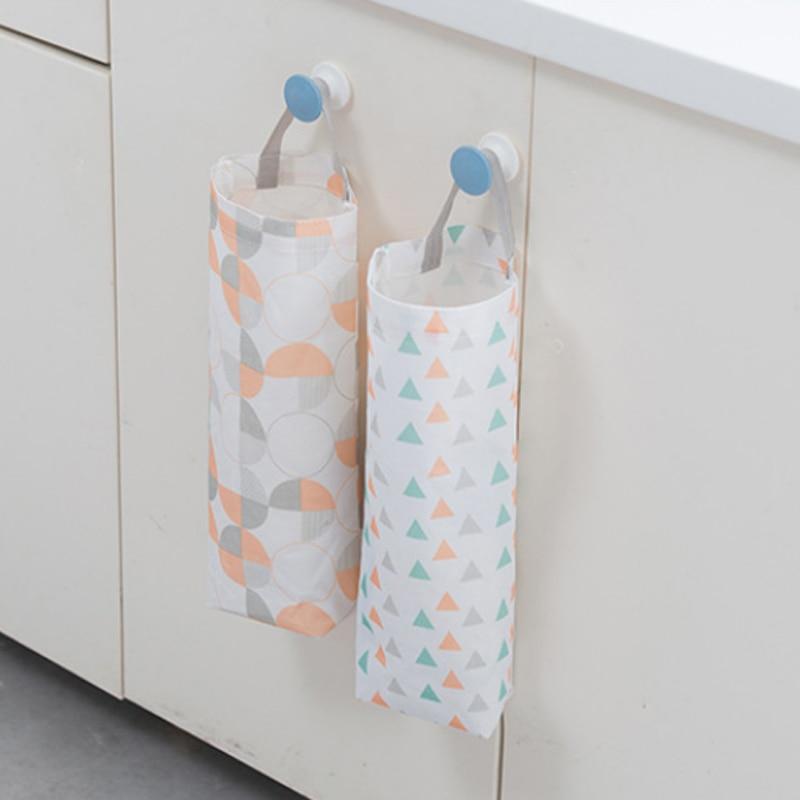1Pcs Multipurpose Trash Bag Bathroom Kitchen Supplies Oxford Cloth Portable Eco-friendly Home Organiser Storage Pouch