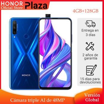 Купить В наличии глобальная версия Honor 9X 4 Гб 128 Гб Смартфон 48 МП AI Тройная камера 6,59 'мобильный телефон гуглинг play мобильный телефон