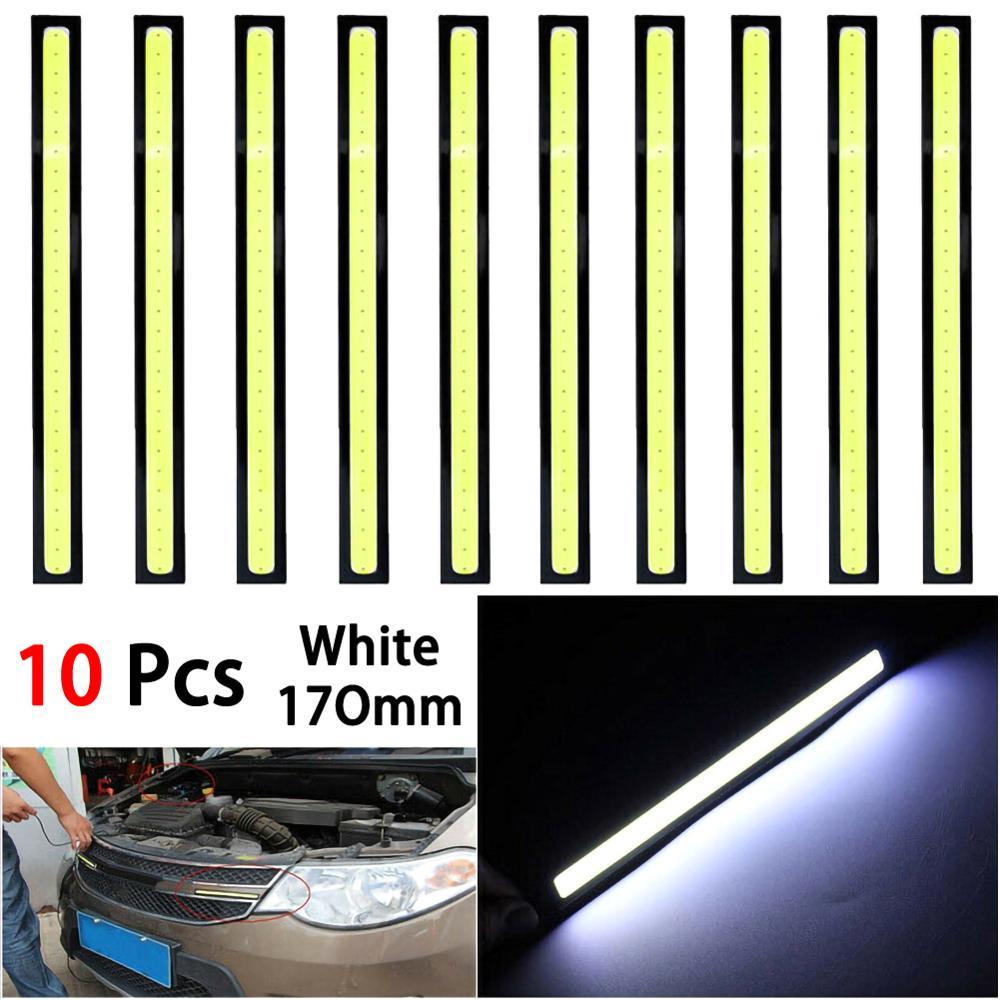 10 шт./компл., светодиодный светодиодные COB Автомобильные дневные ходовые огни, противотуманные фары, белые фонари, 3,84 Вт, а, противотумансвет...