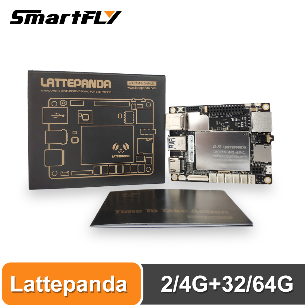 Lattepanda 4G+64GB Board, Intel X86 X64 Z8350 Quad Core 1.8GHz Full Windows10/Linux ArduinoATmega32u4 On Board,Deep Learning