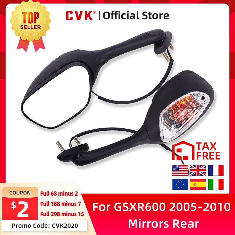 CVK зеркала зеркало заднего вида перевернутое со светом для Suzuki GSXR600 GSXR750 GSXR1000 K5 K6 K7 K8 2005 2006 2007 2008 2009 2010