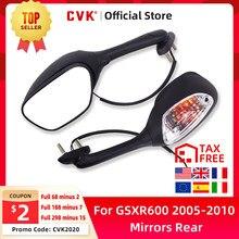 CVK Espelha Espelho Retrovisor Invertido com luz Para Suzuki GSXR600 GSXR750 GSXR1000 K5 K6 K7 K8 2005 2006 2007 2008 2009 2010