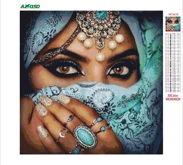 Купить azqsd алмазная вышивка женщина рукоделие мозаика люди картина картинки