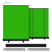 Chromakey Green Screen Portable Pull Up Photo Studio Polyester Cotton Photo Background With Stand For Virtual Scene Video Keying