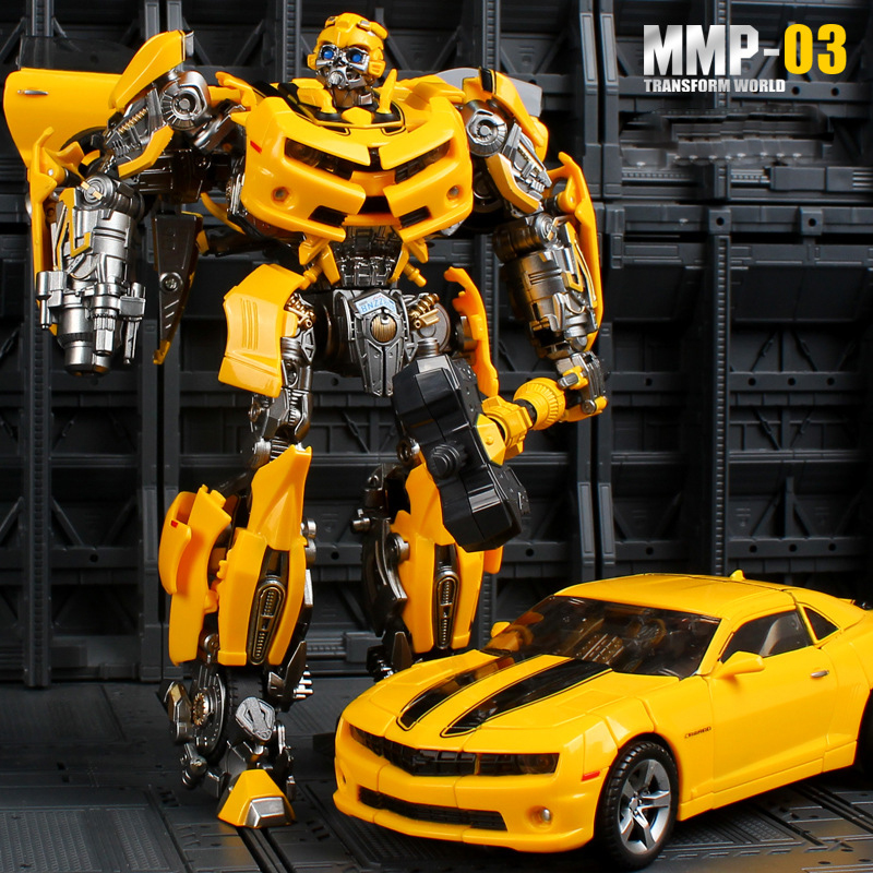 23cm YX Transformation MMP03 Model Camaro BBumbleb Battle Blades MPM03 Metal Part Action Figure Deformed Toy Robot Car Hornet